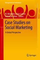 Case Studies on Social Marketing PDF