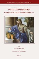 Institutio Oratoria  Bacon  Descartes  Hobbes  Spinoza PDF