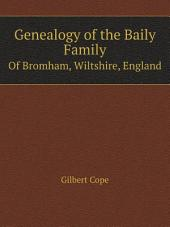 Genealogy of the Baily Family
