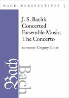 Bach Perspectives  Volume 7 PDF