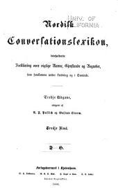 Nordisk conversationslexikon: indeholdende forklaring over vigtige navne, gjenstande og begreber, som forekomme under laesning og i samtale, Bind 3
