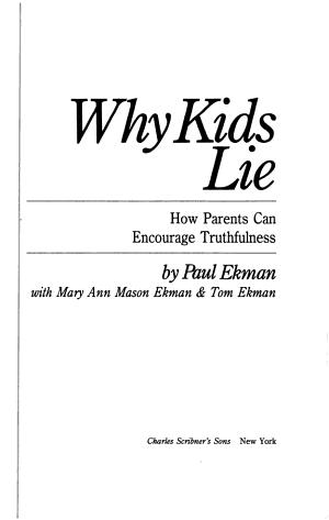 Why Kids Lie
