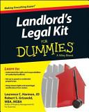 Landlord s Legal Kit for Dummies PDF