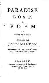 Paradise Lost: A Poem in Twelve Books, Volume 1