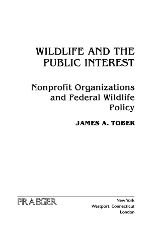 Wildlife and the Public Interest