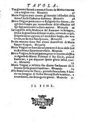 Miracoli della gloriosa Vergine Maria (etc.)