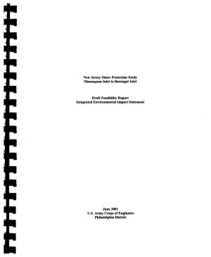New Jersey Shore Protection Study  Manasquan Inlet to Barnegat Inlet PDF