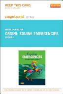 Equine Emergencies Pageburst on Kno Retail Access Code PDF