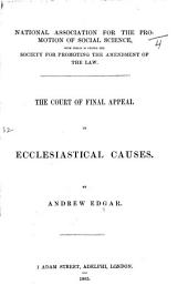 The Court of Final Appeal in Ecclesiastical Causes