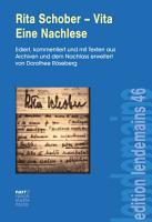 Rita Schober   Vita  Eine Nachlese PDF
