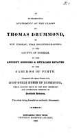 An interesting statement of the claims of Thomas Drummond   c  With  Sequel PDF