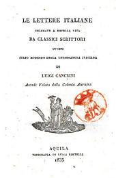 Le lettere italiane chiamate a novella vita da classici scrittori, ovvero stato moderno della letteratura italiana di Luigi Cancrini
