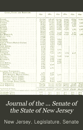 Journal of the ... Senate of the State of New Jersey: Being the ... Session of the Legislature