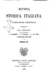 Rivista storica italiana: Volume 4