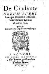 De civilitate morum puerilium libellus