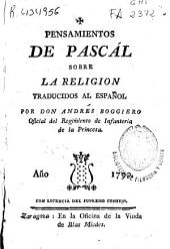Pensamientos de Pascal sobre la religión