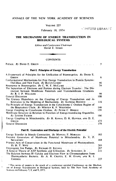 The Mechanism of Energy Transduction in Biological Systems PDF