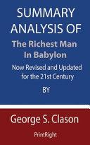 Summary Analysis Of The Richest Man in Babylon PDF