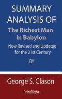 Summary Analysis Of The Richest Man in Babylon