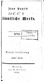 Jean Paul's sämmtliche Werke: Bände 16-20