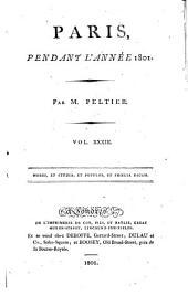 Paris, pendant l'année ...: Volume33