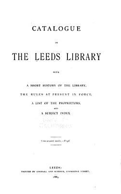 Catalogue of the Leeds Library PDF