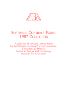 Software Contract Forms 1987 Collection PDF