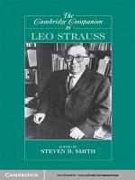 The Cambridge Companion to Leo Strauss PDF