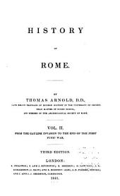 History of Rome: Volume 2