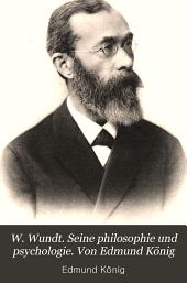W. Wundt: Seine philosophie und psychologie