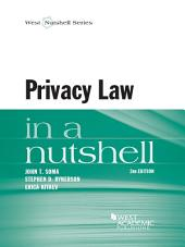 Privacy Law in a Nutshell, 2d: Edition 2
