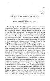 On Wenham's Heated-Air Engine. [An offprint from the Proceedings of the Institution of Mechanical Engineers.]