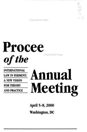 Proceedings of the     Annual Meeting PDF