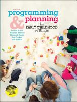 Programming and Planning in Early Childhood Settings with Student Resource Access 12 Months PDF