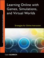 Learning Online with Games  Simulations  and Virtual Worlds PDF