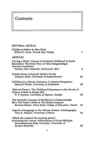 Childhood in African Literature PDF