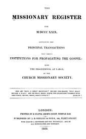 Missionary Register: Volume 17