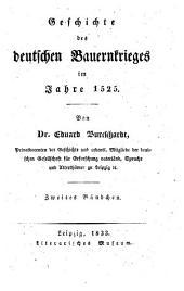 Geschichte des deutschen Bauernkrieges im Jahre 1525: Band 2