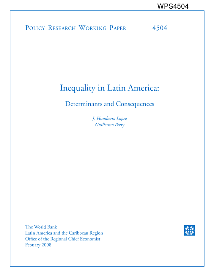 Inequality in Latin America[