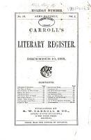 Carroll s Literary Register PDF