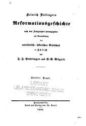 Heinrich Bullingers Reformationsgeschichte: Band 3