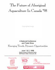 The Future of Aboriginal Aquaculture in Canada  98 PDF