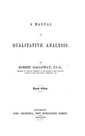 A Manual of Qualitative Analysis