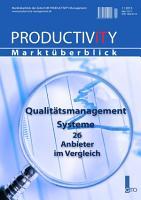 Productivity Management Markt  berblick 1 2013   Qualit  tsmanagment Systeme PDF