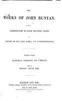 The Works of John Bunyan  Allegorical  figurative  and symbolical PDF