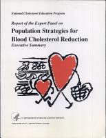 Report of the Expert Panel on Population Strategies for Blood Cholesterol Reduction PDF