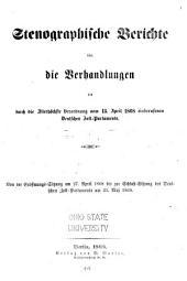 Stenographische Berichte über die Verhandlungen des durch die Allerhöchste Verordnung ... einberufenen Deutschen Zoll-Parlaments