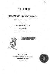 Poesie di Ieronimo Savonarola coll'aggiunta del suo Trattato circa il reggimento e governo della città di Firenze