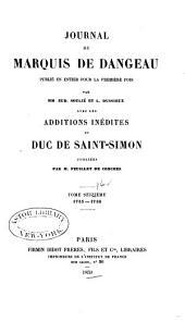 Journal du marquis de Dageneau: 1715-1716