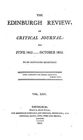 The Edinburgh Review  or Critical Journal  for June 1815     October 1815 PDF